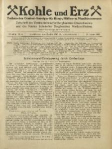 Kohle und Erz, 1925, Jg. 22, Nr. 4
