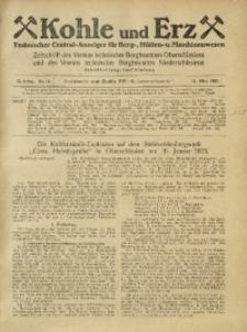 Kohle und Erz, 1925, Jg. 22, Nr. 11