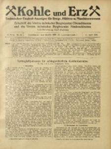 Kohle und Erz, 1925, Jg. 22, Nr. 15