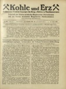 Kohle und Erz, 1925, Jg. 22, Nr. 17
