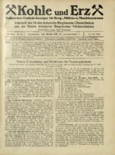 Kohle und Erz, 1925, Jg. 22, Nr. 24