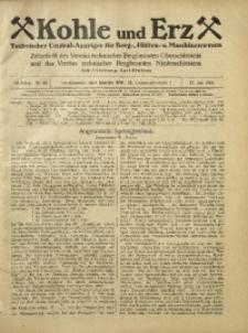 Kohle und Erz, 1925, Jg. 22, Nr. 29