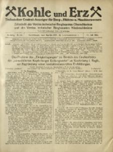 Kohle und Erz, 1925, Jg. 22, Nr. 31