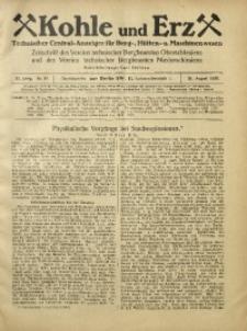 Kohle und Erz, 1925, Jg. 22, Nr. 34