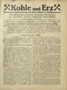 Kohle und Erz, 1925, Jg. 22, Nr. 39