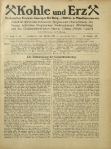 Kohle und Erz, 1925, Jg. 22, Nr. 43