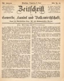 Zeitschrift für Gewerbe, Handel und Volkswirthschaft, 1874, Jg. 13, Nr. 14