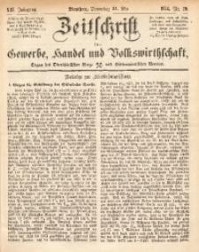 Zeitschrift für Gewerbe, Handel und Volkswirthschaft, 1874, Jg. 13, Nr. 20
