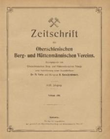 Zeitschrift des Oberschlesischen Berg- und Hüttenmännischen Vereins, 1910, Jg. 49, Februar
