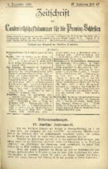 Zeitschrift der Landwirthschaftskammer für die Provinz Schlesien, 1900, Jg. 4, Heft 49