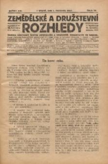 Zemědělské a Družstevní Rozhledy, 1921, R. 16, Čís. 12