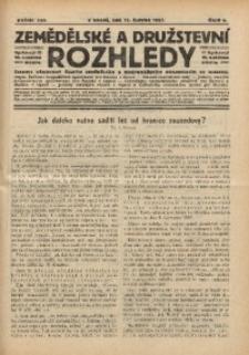 Zemědělské a Družstevní Rozhledy, 1927, R. 22, Čís. 6