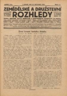 Zemědělské a Družstevní Rozhledy, 1927, R. 22, Čís. 11