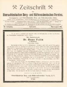 Zeitschrift des Oberschlesischen Berg- und Hüttenmännischen Vereins, 1916, Jg. 55, Mai-August