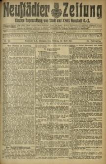 Neustädter Zeitung, 1912, Jg. 23, Nr. 97