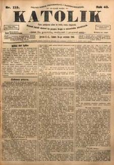 Katolik, 1910, R. 43, nr 115