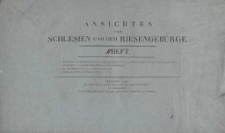 Ansichten von Schlesien und dem Riesengebirge. Heft II (okładka)