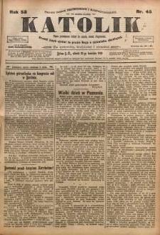 Katolik, 1919, R. 52, nr 45