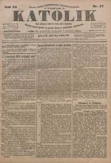 Katolik, 1919, R. 52, nr 47