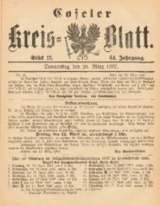 Coseler Kreis-Blatt, 1907, Jg. 64, St. 13