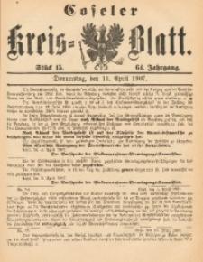 Coseler Kreis-Blatt, 1907, Jg. 64, St. 15