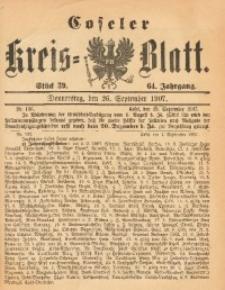 Coseler Kreis-Blatt, 1907, Jg. 64, St. 39