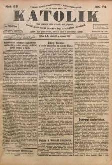 Katolik, 1919, R. 52, nr 74