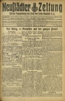 Neustädter Zeitung, 1915, Jg. 25 [właśc. 26], Nr. 37