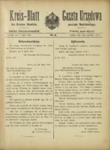 Kreis-Blatt des Kreises Bendzin, 1915, No. 8