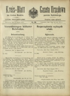 Kreis-Blatt des Kreises Bendzin, 1915, No. 26