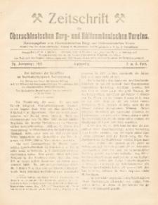Zeitschrift des Oberschlesischen Berg- und Hüttenmännischen Vereins, 1917, Jg. 56, Heft 2-3