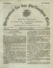 Wochenblatt für das Fürstenthum Oels, 1836, Jg. 3, No. 3