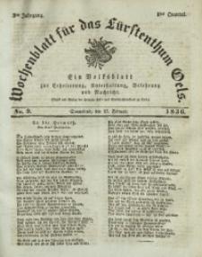 Wochenblatt für das Fürstenthum Oels, 1836, Jg. 3, No. 9
