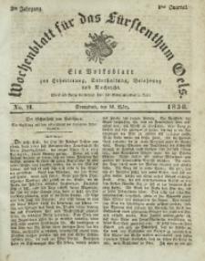 Wochenblatt für das Fürstenthum Oels, 1836, Jg. 3, No. 11