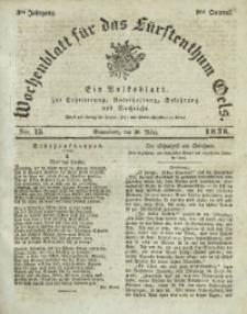 Wochenblatt für das Fürstenthum Oels, 1836, Jg. 3, No. 13