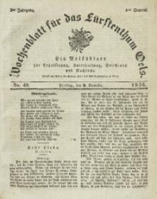 Wochenblatt für das Fürstenthum Oels, 1836, Jg. 3, No. 49