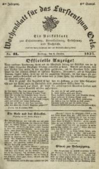 Wochenblatt für das Fürstenthum Oels, 1837, Jg. 4, No. 41