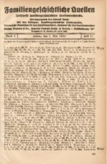 Familiengeschichtliche Quellen, 1932/1934, Bd. 7, H. 72 (Wisn-Wulf)