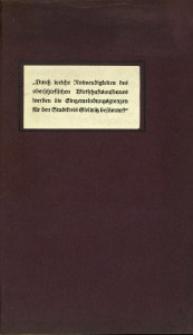 """Aus den Verhandlungen des Preußischen Städtetages in Köln am 27. und 28. Mai 1925 über """"Moderne Städtebauprobleme""""."""
