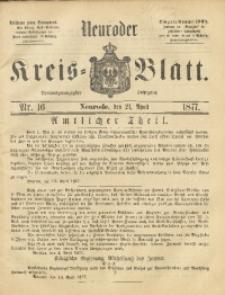 Neuroder Kreis-Blatt, 1877, Jg. 23, Nr. 16