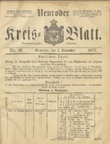 Neuroder Kreis-Blatt, 1877, Jg. 23, Nr. 48