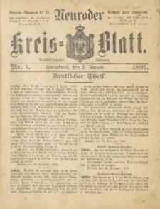 Neuroder Kreis-Blatt, 1897, Jg. 43, Nr. 1