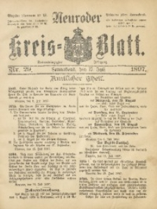 Neuroder Kreis-Blatt, 1897, Jg. 43, Nr. 29