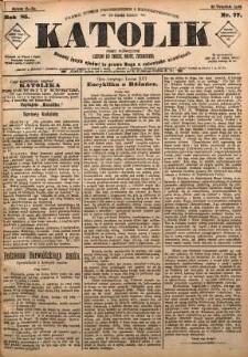 Katolik, 1892, R. 25, nr 77