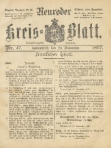 Neuroder Kreis-Blatt, 1897, Jg. 43, Nr. 47
