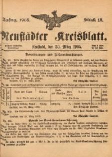 Neustädter Kreisblatt, 1905, Jg. 63, St. 13