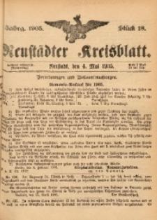 Neustädter Kreisblatt, 1905, Jg. 63, St. 18