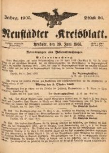 Neustädter Kreisblatt, 1905, Jg. 63, St. 26