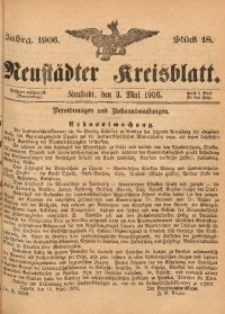 Neustädter Kreisblatt, 1906, Jg. 64, St. 18