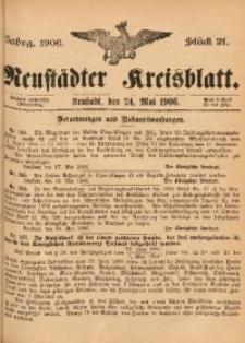 Neustädter Kreisblatt, 1906, Jg. 64, St. 21
